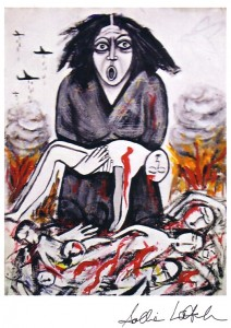 Sallie Latch's Anti-War Painting
