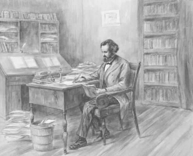 KARL MARX IN HIS STUDY - for pamphlet